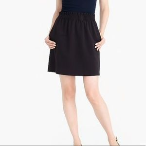 J. Crew Factory Black Wool Sidewalk Skirt